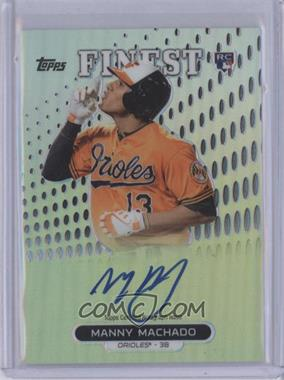 2013 Topps Finest Autographed Rookies Refractor #RA-MM - Manny Machado