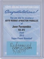 Jose Fernandez /149 [REDEMPTION Being Redeemed]