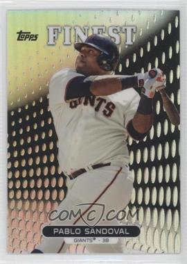 2013 Topps Finest Refractor #22 - Pablo Sandoval