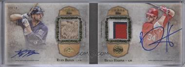 2013 Topps Five Star Dual Signature Patch Book #FSDSP-BH - Ryan Braun, Bryce Harper /10