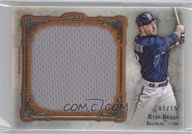 2013 Topps Five Star Jumbo Jersey Relic Orange #FSJJR-RB - Ryan Braun /15