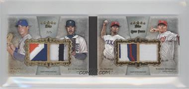 2013 Topps Five Star Quad Patch Book #FQPB-2 - Matt Harvey, Justin Verlander, Yu Darvish, Stephen Strasburg /5