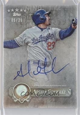 2013 Topps Five Star Retired and Active Player Autographs Rainbow Foil #FSBA-AG - Adrian Gonzalez /25