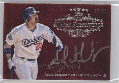 2013 Topps Five Star Silver Signatures Red #FSSS-AG - Adrian Gonzalez /20