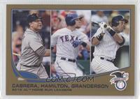 2012 AL Home Run Leaders (Miguel Cabrera, Josh Hamilton, Curtis Granderson) /20…