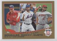 2012 NL Wins Leaders (Gio Gonzalez, R.A. Dickey, Johnny Cueto) /2013