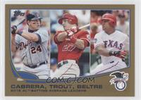 2012 AL Batting Average Leaders (Miguel Cabrera, Mike Trout, Adrian Beltre) /20…
