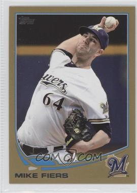 2013 Topps Gold #398 - Michael Fiers /2013