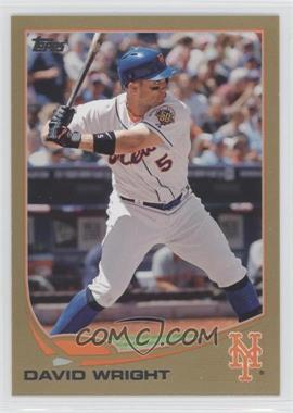 2013 Topps Gold #400 - David Wright /2013