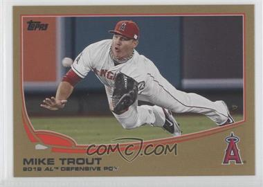 2013 Topps Gold #536 - Mike Trout /2013