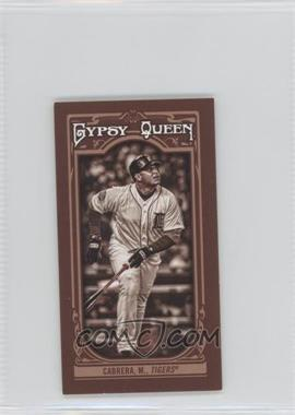 2013 Topps Gypsy Queen - [Base] - Mini Sepia-Tone #310 - Miguel Cabrera /50