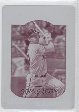 2013 Topps Gypsy Queen - [Base] - Printing Plate Magenta #298 - Michael Young /1