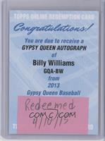 Billy Williams [REDEMPTIONBeingRedeemed]