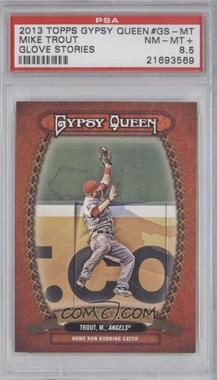 2013 Topps Gypsy Queen Glove Stories #GS-MT - Mike Trout [PSA 8.5]