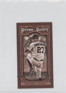 2013 Topps Gypsy Queen Mini Sepia-Tone #278 - Jordan Zimmermann /50