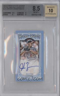 2013 Topps Gypsy Queen Retail Autographs Mini [Autographed] #MA-N/A - Jordan Zimmermann /5 [BGS 8.5]