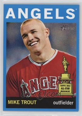 2013 Topps Heritage - [Base] - Wal-Mart Blue #430 - Mike Trout