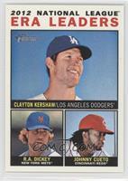 2012 National League ERA Leaders (Clayton Kershaw, R.A. Dickey, Johnny Cueto)