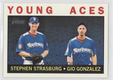 2013 Topps Heritage - [Base] #219 - Young Aces (Stephen Strasburg, Gio Gonzalez)