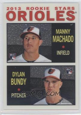 2013 Topps Heritage - Chrome #HCHC94 - Manny Machado, Dylan Bundy /999