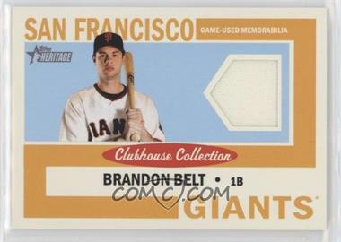 2013 Topps Heritage - Clubhouse Collection Relics #CCR-BBE - Brandon Belt
