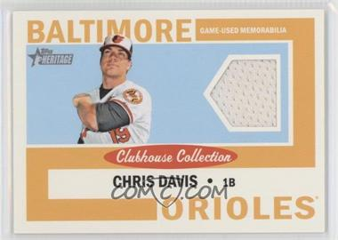 2013 Topps Heritage - Clubhouse Collection Relics #CCR-CD - Chris Davis