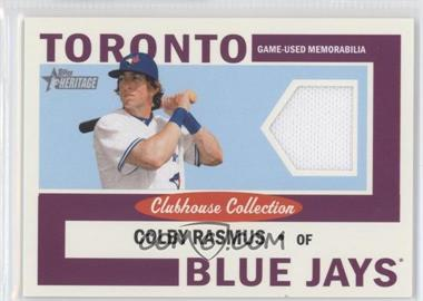 2013 Topps Heritage - Clubhouse Collection Relics #CCR-CR - Colby Rasmus