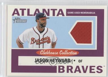 2013 Topps Heritage - Clubhouse Collection Relics #CCR-JH - Jason Heyward