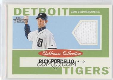 2013 Topps Heritage - Clubhouse Collection Relics #CCR-RP - Rick Porcello