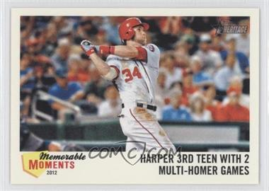 2013 Topps Heritage - Memorable Moments #MM-BH - Bryce Harper