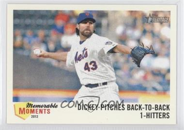2013 Topps Heritage - Memorable Moments #MM-RA - R.A. Dickey