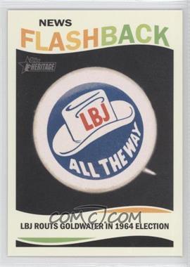 2013 Topps Heritage - News Flashback #NF-LBJ - Lyndon B. Johnson