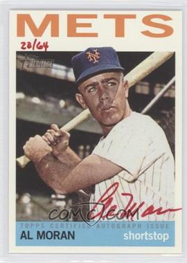 2013 Topps Heritage - Real One Certified Autographs - Red Ink #ROA-AM - Al Moran /64