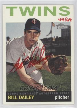 2013 Topps Heritage - Real One Certified Autographs - Red Ink #ROA-BD - Bill Dailey /64