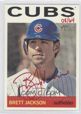 2013 Topps Heritage - Real One Certified Autographs - Red Ink #ROA-BJ - Brett Jackson /64
