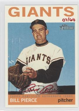 2013 Topps Heritage - Real One Certified Autographs - Red Ink #ROA-BP - Billy Pierce /64