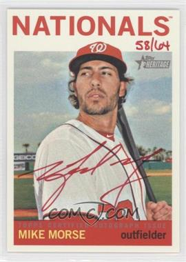 2013 Topps Heritage - Real One Certified Autographs - Red Ink #ROA-MM - Mike Morse /64
