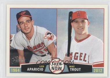 2013 Topps Heritage - Then and Now #TN-AT - Luis Aparicio, Mike Trout