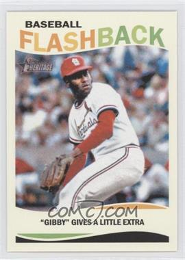 2013 Topps Heritage Baseball Flashback #BF-BG - Bob Gibson