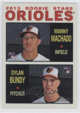 2013 Topps Heritage Chrome #HCHC94 - Manny Machado, Dylan Bundy /999