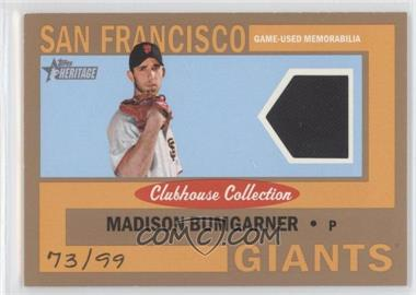 2013 Topps Heritage Clubhouse Collection Relics Gold #CCR-MB - Madison Bumgarner /99