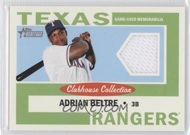 2013 Topps Heritage Clubhouse Collection Relics #CCR-AB - Adrian Beltre