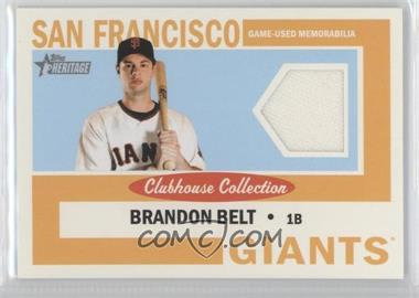 2013 Topps Heritage Clubhouse Collection Relics #CCR-BBE - Brandon Belt
