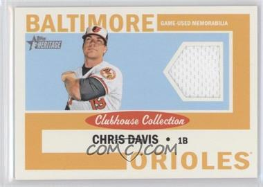 2013 Topps Heritage Clubhouse Collection Relics #CCR-CD - Chris Davis