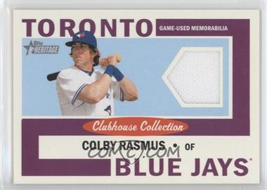 2013 Topps Heritage Clubhouse Collection Relics #CCR-CR - Colby Rasmus