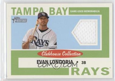 2013 Topps Heritage Clubhouse Collection Relics #CCR-EL - Evan Longoria