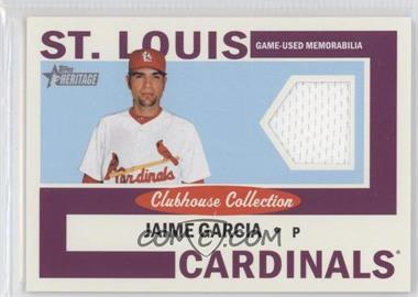 2013 Topps Heritage Clubhouse Collection Relics #CCR-JG - Jaime Garcia
