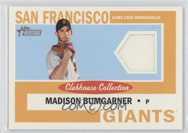 2013 Topps Heritage Clubhouse Collection Relics #CCR-MB - Madison Bumgarner
