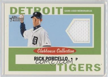 2013 Topps Heritage Clubhouse Collection Relics #CCR-RP - Rick Porcello