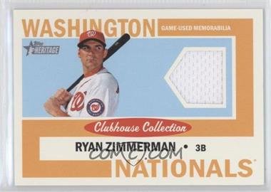 2013 Topps Heritage Clubhouse Collection Relics #CCR-RZ - Ryan Zimmerman